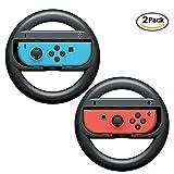 niceEshop(TM) Nintendo Switch Lenkrad Controller, Joy-Con Wheel für Nintendo Switch (2 Pack), Schwarz -