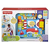 Fisher-Price Baby Activity Table Bilingual Progressive Early Learning with 5 Play Zones, for Children Aged 6 Months and Above, DPV20