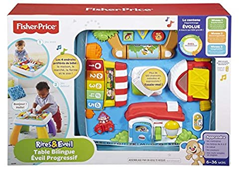 Jeu D Eveil Fisher Price - Fisher-Price - DPV20 - Table Bilingue Eveil