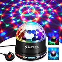 Disco Lights SOLMORE 51 LEDs Party Stage Lights 12W RGB Disco Ball Light Sound Activated Automatic Lighting Strobe lights Unique Sequential Flashing Effect for Kids Festival Birthday Party Bar UK Plug