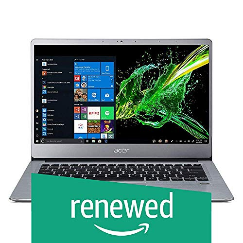 (Renewed) Acer Swift 3 SF314-41 14-inch FHD Thin and Light Notebook (Athlon 300U Dual Core/4GB/1TB HDD/Windows 10 Home (64 bit)/Radeon Vega 3 Graphics), Sparkly Silver