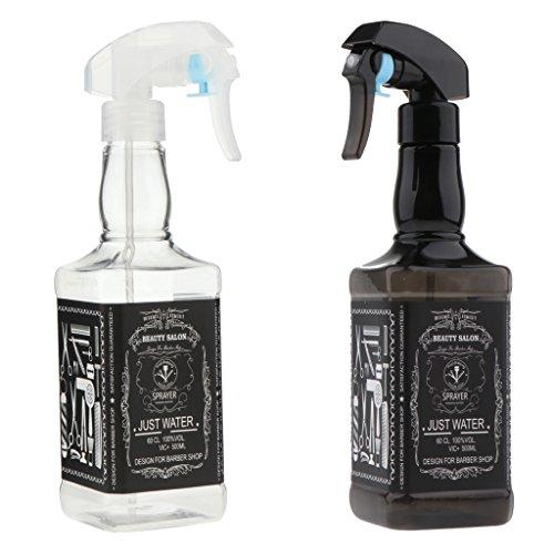 Baoblaze 2 Stück Kunststoff Sprühflasche Blumen Pflanze Wasser Sprayer Friseur Wassersprüher 500ml