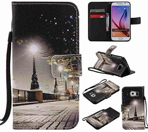 Guran® PU Leder Tasche für iPhone 7 (4.7 Zoll) Smartphone Flip Deckung Stehen Funktion und Karte Slot Case-spitzenblume color3