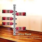 GOTOTOP Portabottiglie in Acciaio Inox,per 8 Bottiglie di Vino,Montaggio a Parete,8 Hole /12 Hole (12 Hole)
