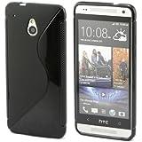 S Line Coque en Gel TPU souple pour HTC One mini M4 Noir