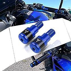 MT 03 Moto Embout De Guidon pour Yamaha MT01 MT03 MT07 MT09 MT10 pour Yamaha FZ01 FZ03 FZ07 FZ09 FZ10-Bleu