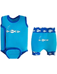 SwimBest Baby Wetsuit & Nappy Set - Blue Fish-6-12 mths/8-11 kgs