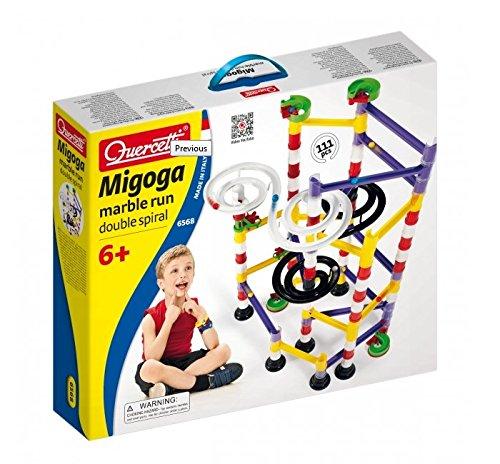 Quercetti 6568 Migoga - Circuito de bolas con doble espiral (108 piezas)