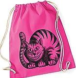 KATZE Cheshire Cat Alice in Wonderland / Turnbeutel Gymsac / PINK