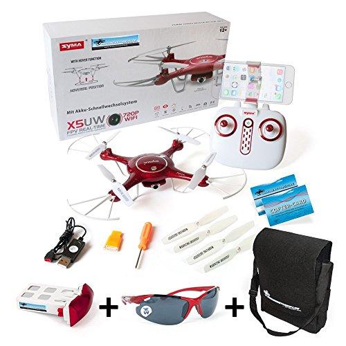 SYMA X5UW Quadrocopter inkl. Extra Akku DS24 Flugbrille - XL Tasche NEUHEIT 2017