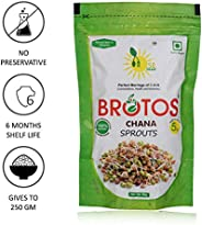 BROTOS Instant Chana Sprouts (Gives 250 GM) - Masala Sachet Inside