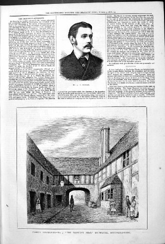 Herr Macklin der Southwell Nottinghamshire 1878 der Antiken-Porträt Hostelries-Sarazene