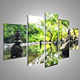 Tableau Tableaux sur toile Zen Garden Japon Image sur toile - Images - Photo - Poster - Impression - déco murale