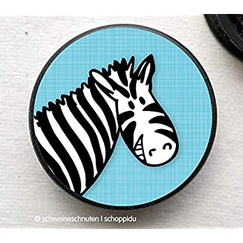 Magnet Zebra blau