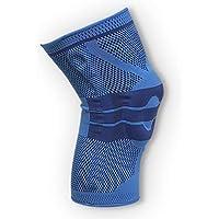 oxoxo med Kniebandage mit ergonomischer Passform durch 3D-Stricktechnik | Schutz und Stabilität durch Silikon Pad und Stützfedern für Meniskus und Patella [XL]