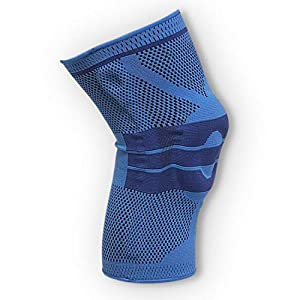 oxoxo med Kniebandage mit ergonomischer Passform durch 3D-Stricktechnik – Schutz und Stabilität durch Silikon Pad und Stützfedern für Meniskus und Patella