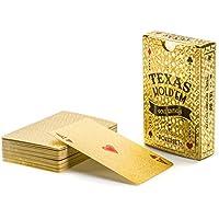 Gold Pokerkarten Spielkarten aus PVC Kunststoff-Karten Poker Plastik Deck wasserdicht goldene Folie