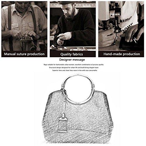 H&S Portafoglio delle signore del sacchetto di spalla del sacchetto del messaggero del sacchetto del messaggero della borsa della borsa delle donne rosso