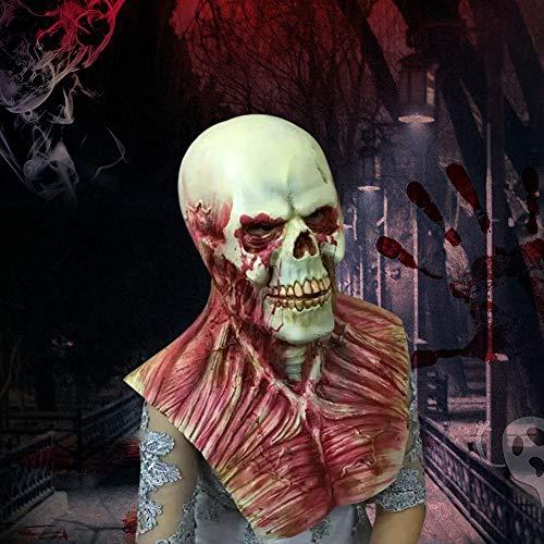 WZYWSJ Halloween Maske Bloody Zombie Maske Schädel Teufel Horror Cosplay Thema Party Cosplay - Einfach Zu Hause Teufel Kostüm