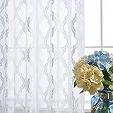 Vorhänge und Vorhänge Gardinen Luxus Weiß Verdickung Tüllvorhänge Zum Fensterdekorationen Wohnzimmer Tülle oben Ein Panel , 1pc(400*270 cm)