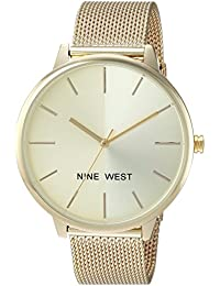 Nine West Women's Quartz Metal and Alloy Dress Watch, Color Gold-Toned (Model: NW/1980CHGB)