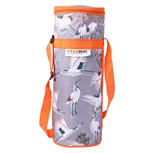 Suredeal Trendy Bottle Cover To keep water Cool/Hot for 1L Bottles (Grey)