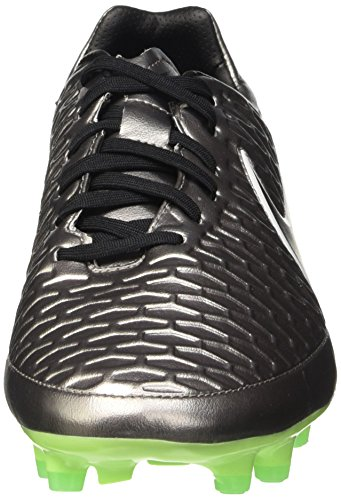 Nike Magista Onda Fg, Chaussures de Running Compétition Homme Plateado / Negro / Verde (Mtlc Pwtr / Blk-Ghst Grn-Grn Glw)