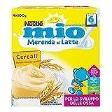 Mio Merenda al Latte Cereali, per Bambini da 6 Mesi - Pacco da 4 x 100 gr - Totale: 400 gr