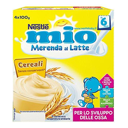 Nestlé Mio Merenda al Latte Cereali da 6 Mesi Pacco da 24 x 100 g