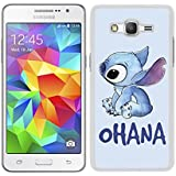 FUNDA CARCASA PARA SAMSUNG GALAXY GRAND PRIME STITCH OHANA BORDE BLANCO