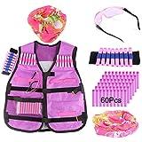 YAKOK Enfant Gilet Kit: 1 Gilet, 40 Flechette, 1 Masque, 1 Lunette, 1 Bracelet pour...