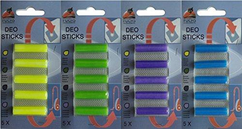 20 Deosticks 4 Duft-Varianten: Deostick, Duftstäbchen, Lufterfrischer, für Staubsauger, Duftpatronen, Deo, Raumerfischer,