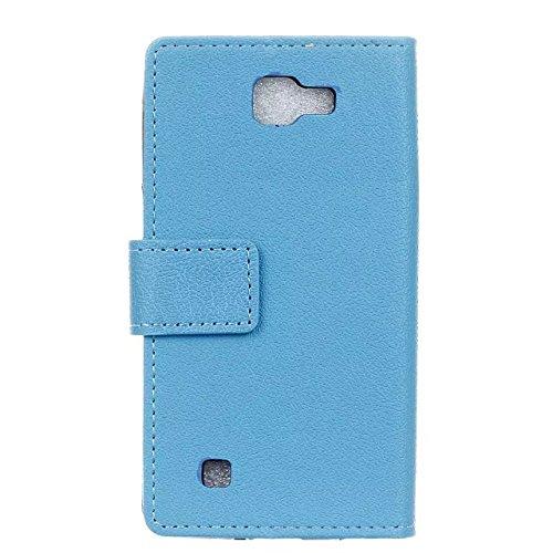 LG K3 Case, Einfarbig Kas Textur Muster Leder Schutzhülle Case Horizontal Flip Standplatz Fall mit Kartenfächern für LG K3 ( Color : Red , Size : LG K3 ) Blue