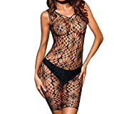 SCHOLIEBEN Baby Doll Dessous Damen Erotik Unterwäsche Lingerie Set Strumpfhalter,Ouvert Teddy Gewagte Wetlook Frauen Obsessive Provocative Spitze Sissy Nuttiges