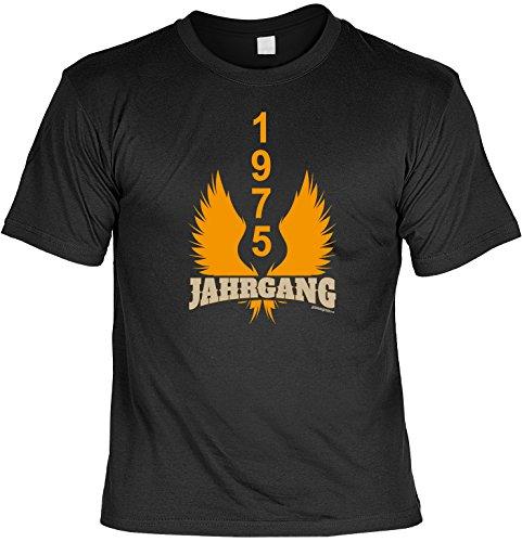 Zum Geburtstag - Jahrgang 1975 - T-Shirt - Perfekt als Geschenk! Schwarz