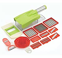 God Gift Ritu 12-in-1 Multipurpose Chipser Slicer, Grater Chopper (Plastic)