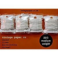 Encuadernación de lino encerado hilo–40m, peso medio (25/3)
