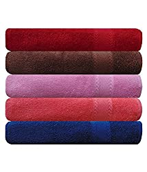 EAGLESHINE Set of 5 Cotton Bath Towel Multi