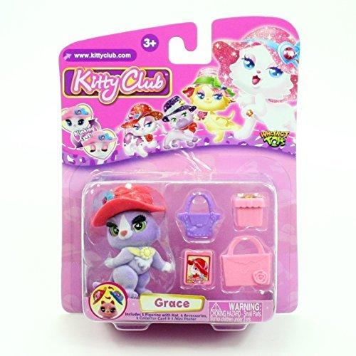 GRACE * Kitty Club * 2016 Whatnot Toys Single Figurine & Accessories Pack -