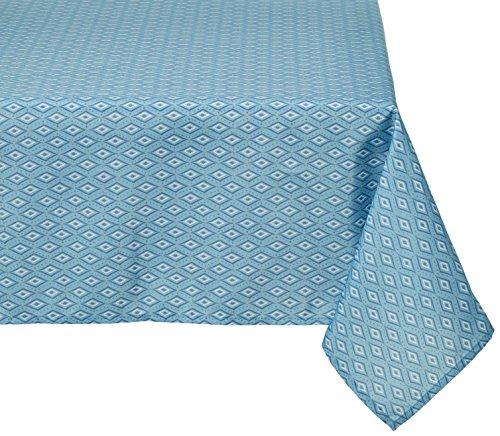 Lovely Casa Sakura Nappe, Polyester, Bleu, 240 x 140 cm
