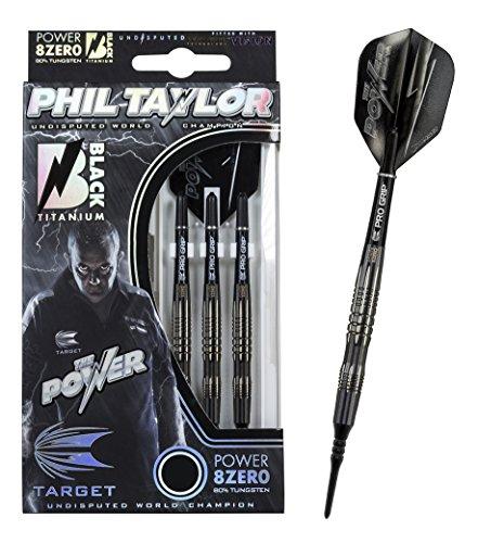 20 g Dartset (3 Stk) Power 8Zero Black Titanium Phil Taylor Target