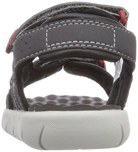 Timberland Kid s Perkins Row 2-Strap Sandals  Grey  Forged Iron   12 5 UK 12 5 UK