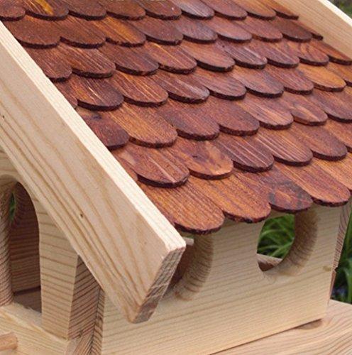 Vogelhaus-XL Braun- Vogelhäuser-(V013)- Vogelfutterhaus Vogelhäuschen-aus Holz - 2