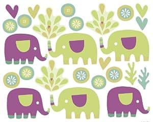 Wallies 2-Sheet Peel and Stick Baby Design, Elephants