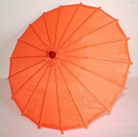 AAF Nommel ® Deko- Kinder- Sonnenschirm aus Stoff und Holz orange, 055