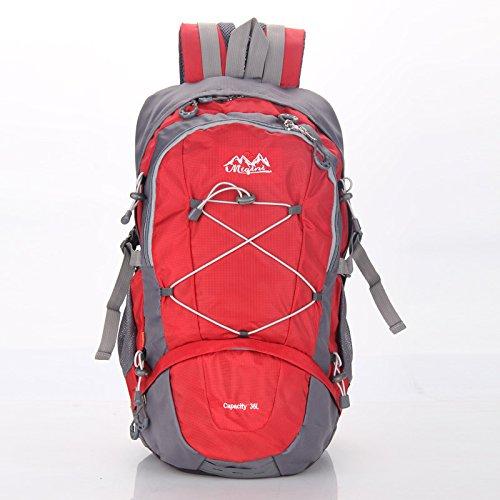 LINGE-Arrampicata borse sport outdoor grande capacità uomini e donne borsa a tracolla mantellina parapioggia , red Red
