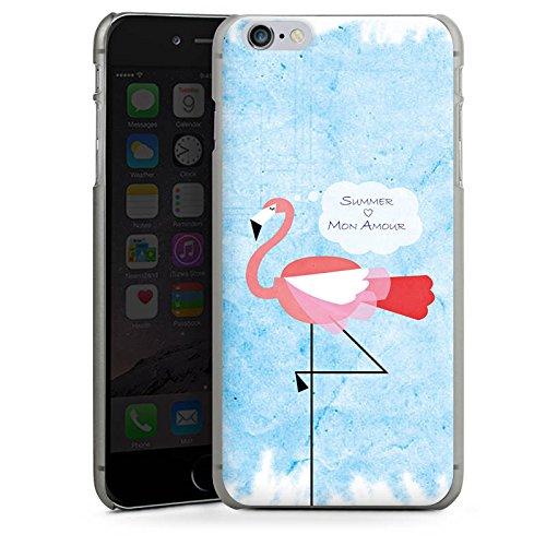Apple iPhone X Silikon Hülle Case Schutzhülle Flamingo Sommer Pink Hard Case anthrazit-klar