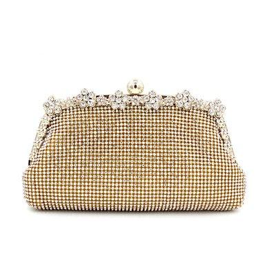 Women's Luxus Hochwertige Blume Diamanten Partei/Abend Tasche Gold