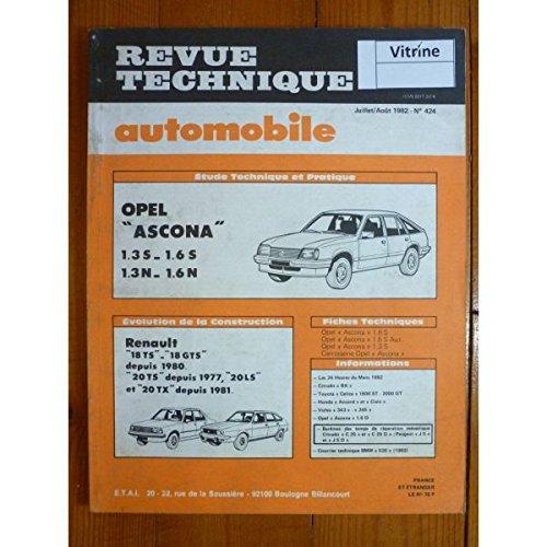 RTA0424 - REVUE TECHNIQUE AUTOMOBILE OPEL ASCONA 1.3S - 1.6S - 1.3N - 1.6N