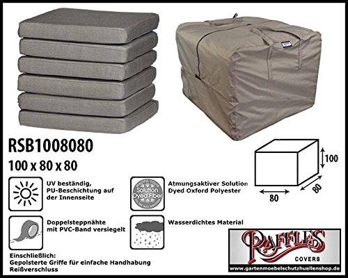 Raffles Covers RSB1008080 Kissentasche für Loungemöbelauflagen Aufbewahrungstasche/Cover für...